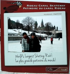 Skating on the Ottawa Rideau Canal